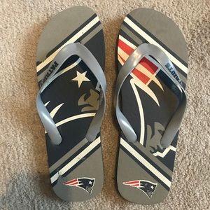Shoes - New England Patriots Flip Flops